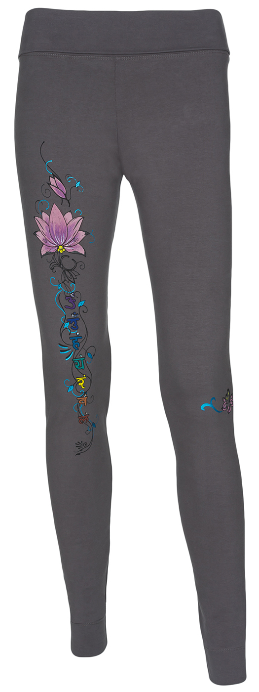 "Yoga-Leggings ""Synergy Chakra"", grey"