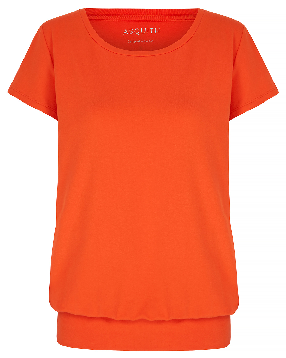 "T-Shirt ""Smooth you"" - disco orange"