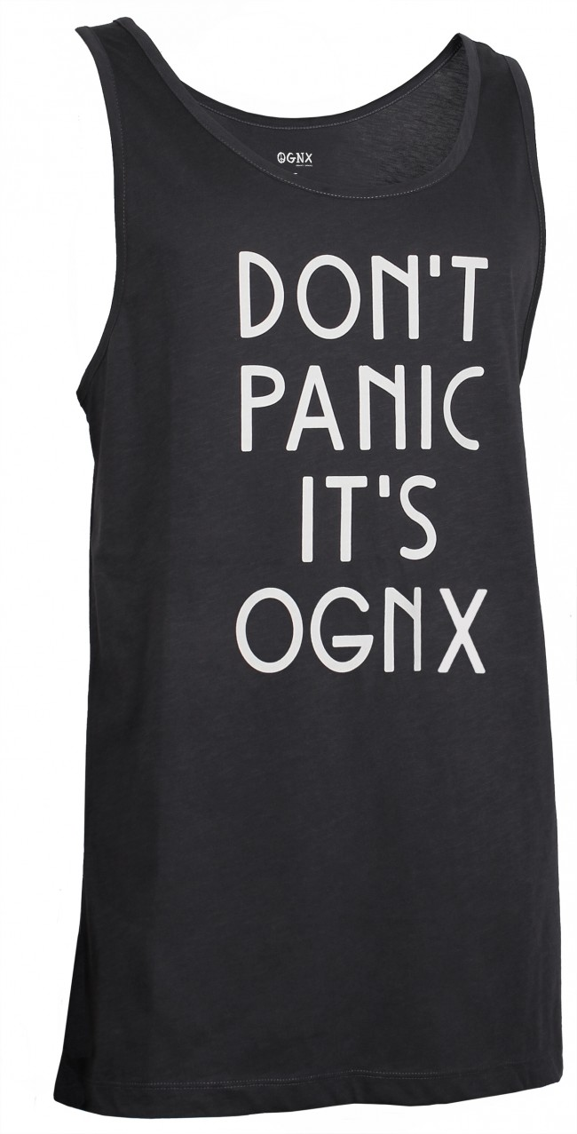 "Yoga Tank-Top unisex ""Don't panic it's OGNX"" - black"