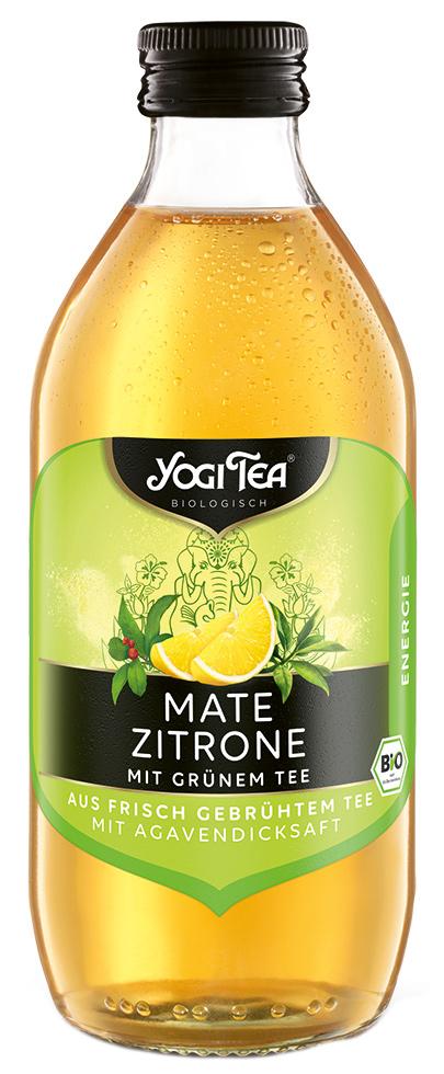 "Bio Teekaltgetränk ""ENERGIE"", Mate Zitrone mit grünem Tee, 330 ml"