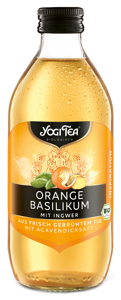 "Bio Teekaltgetränk ""INSPIRATION"", Orange Basilikum mit Ingwer, 330 ml"