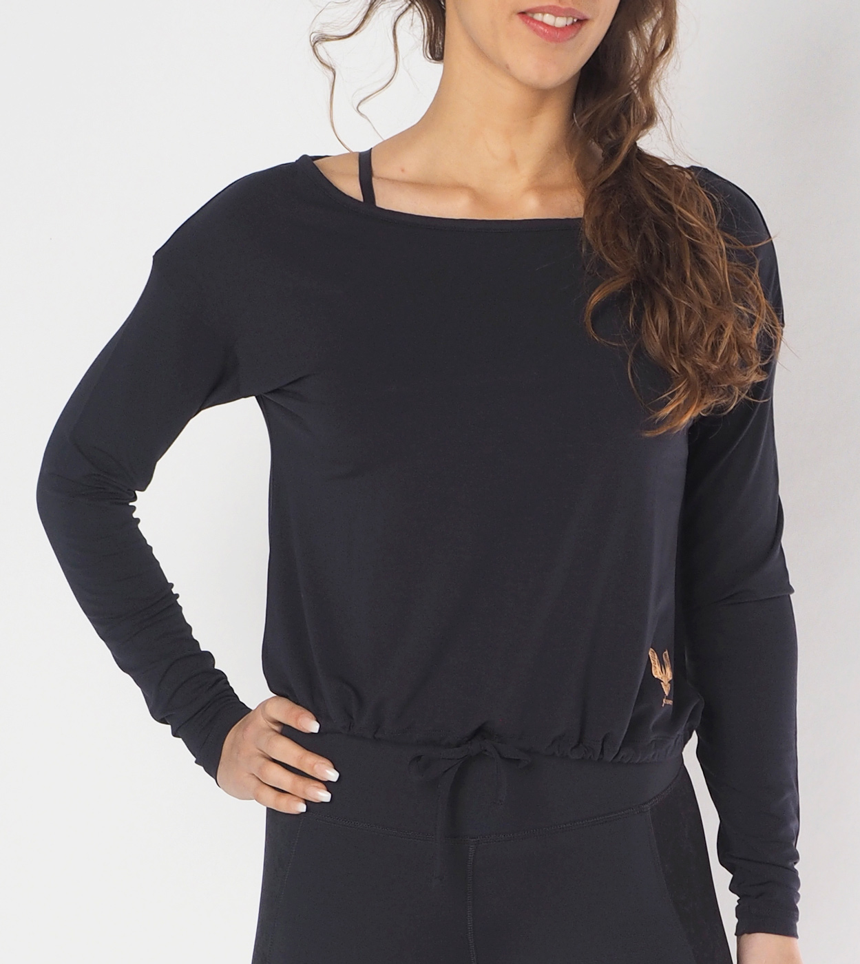 "Long-Sleeve ""Aditi"" - anthracite"