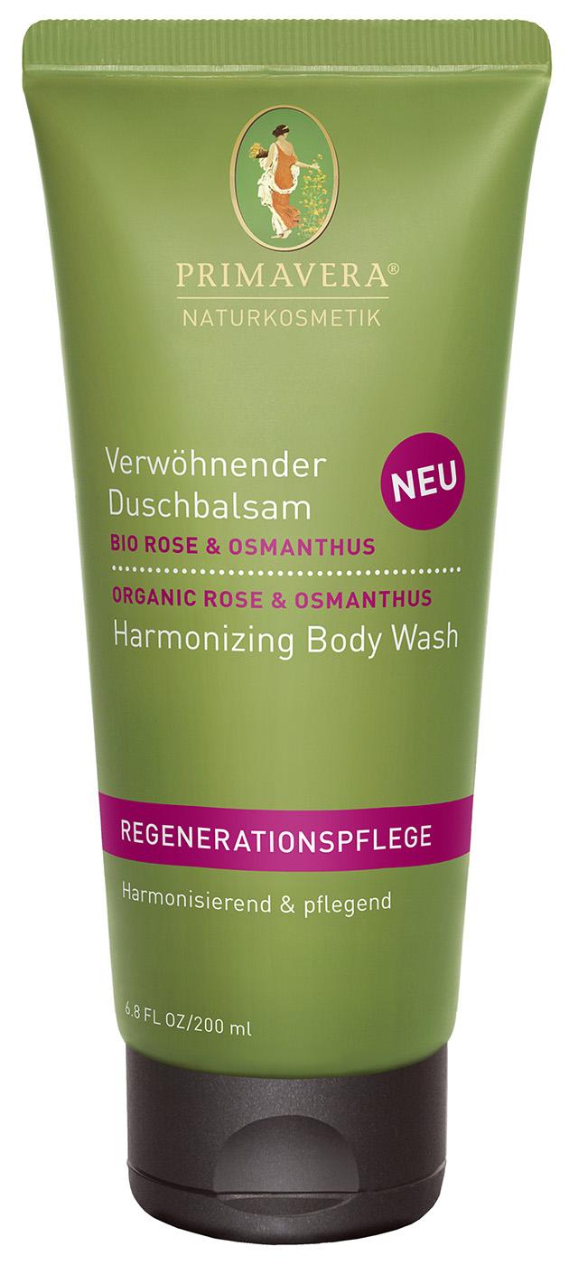 Bio verwöhnender Duschbalsam Rose & Osmanthus, 200 ml