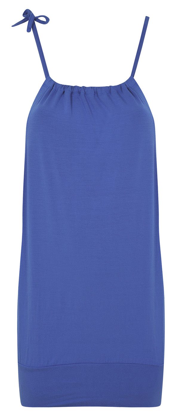"Loose wide top ""Bamboo"", cornflower"