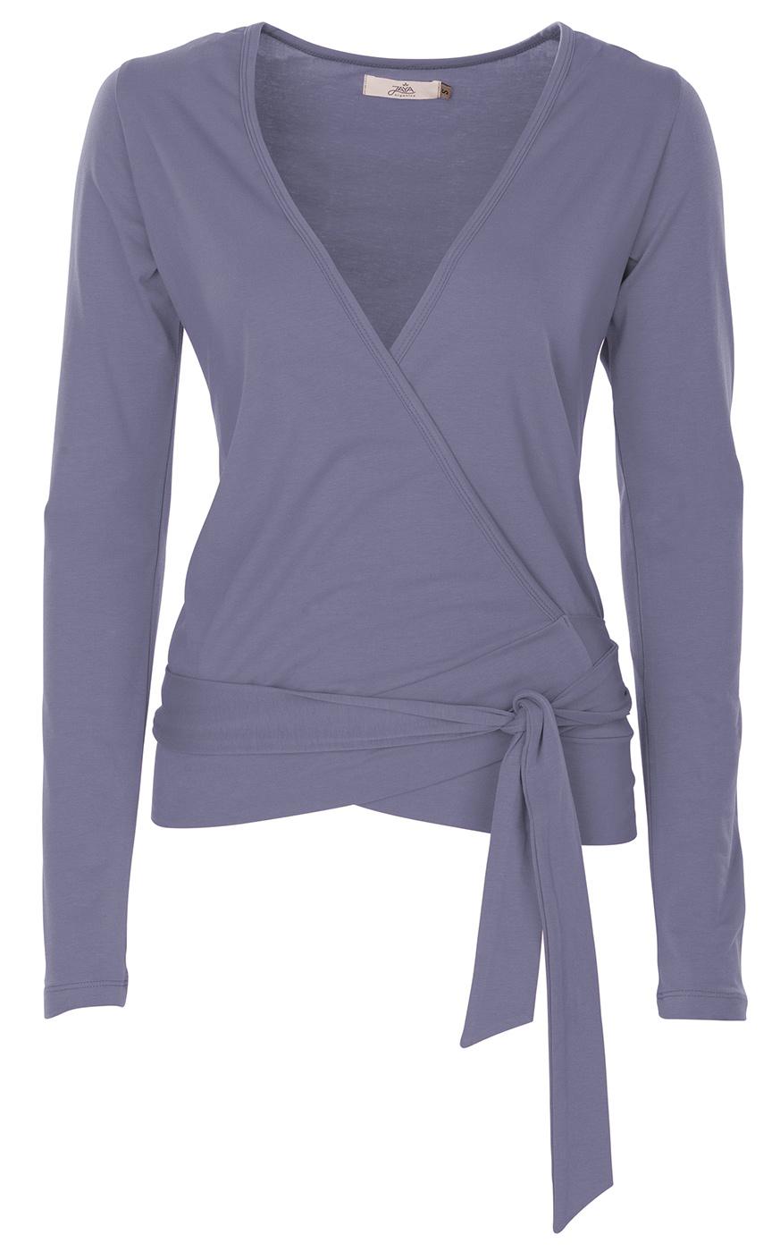 """Wrap-Jacket """"Yael"""" - smokey blue"""