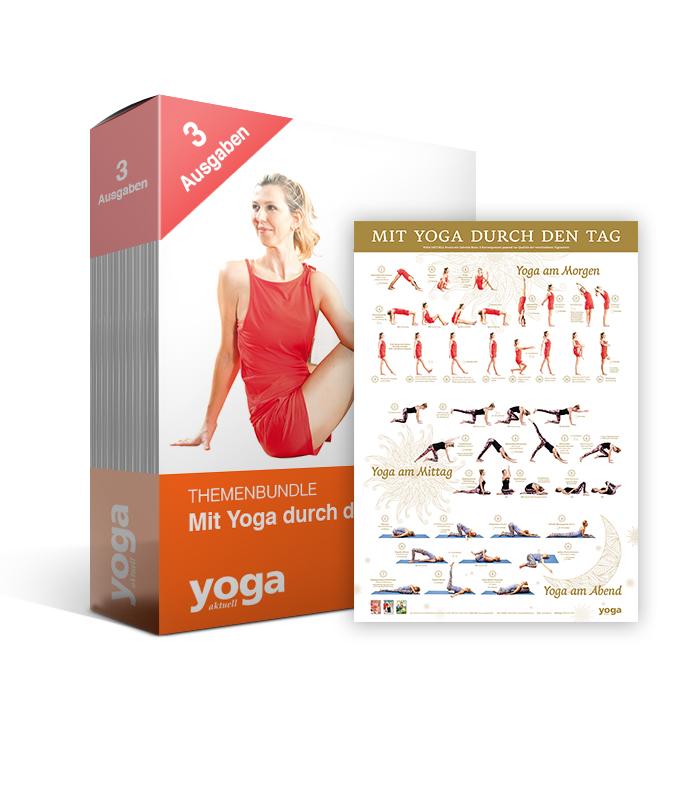 """Mit Yoga durch den Tag"" + Poster - 3er Bundle"