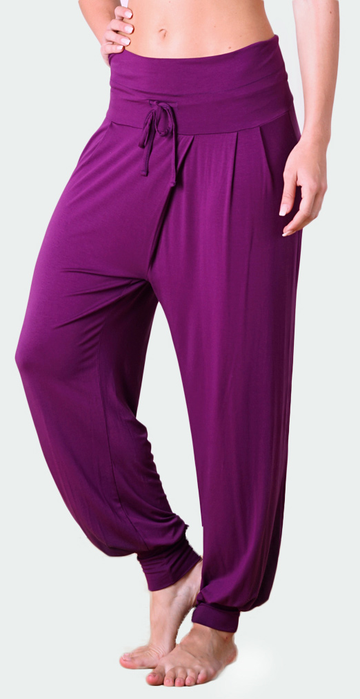"Yoga-Pant long ""Padmini"" - burgundy"