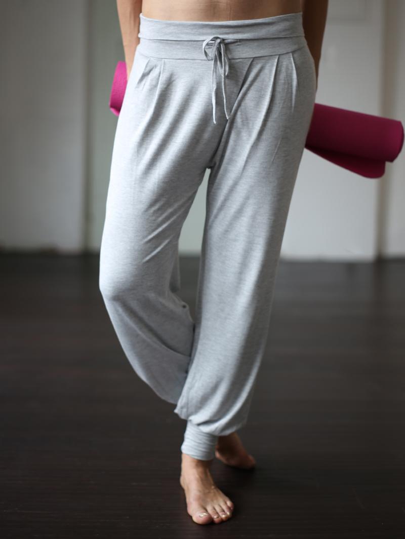 """Yoga-Pant long """"Padmini"""", grey"""
