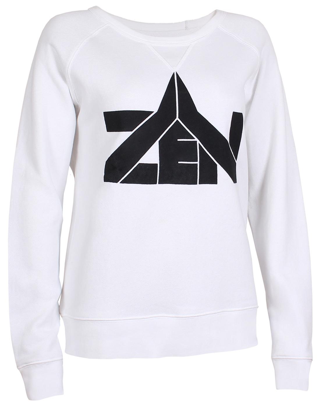 """Yoga Sweatshirt """"Zen"""" - weiss"""