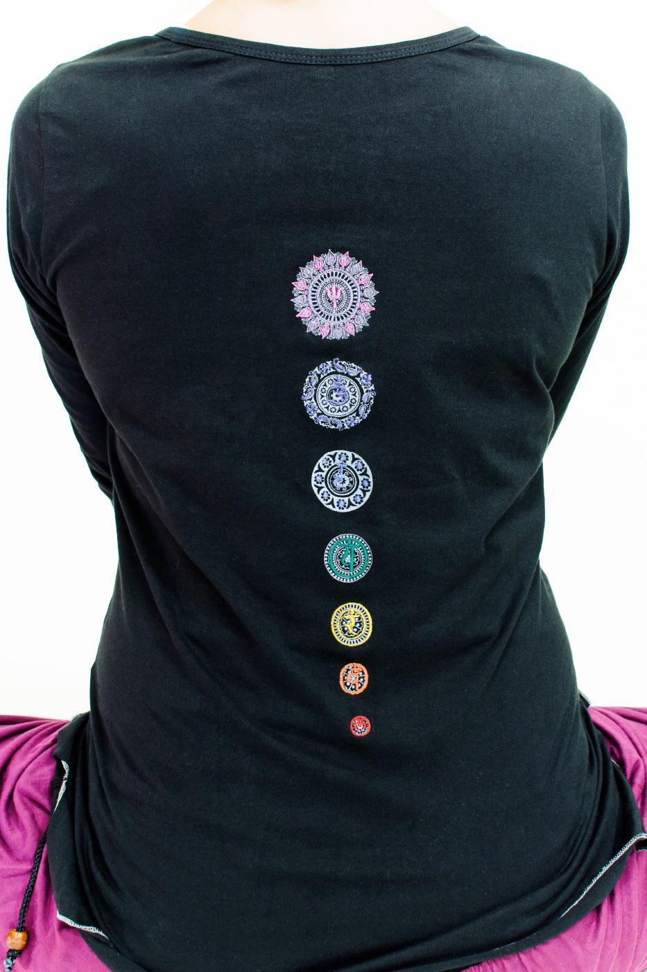 "Yoga-Top ""Chakra"", black"