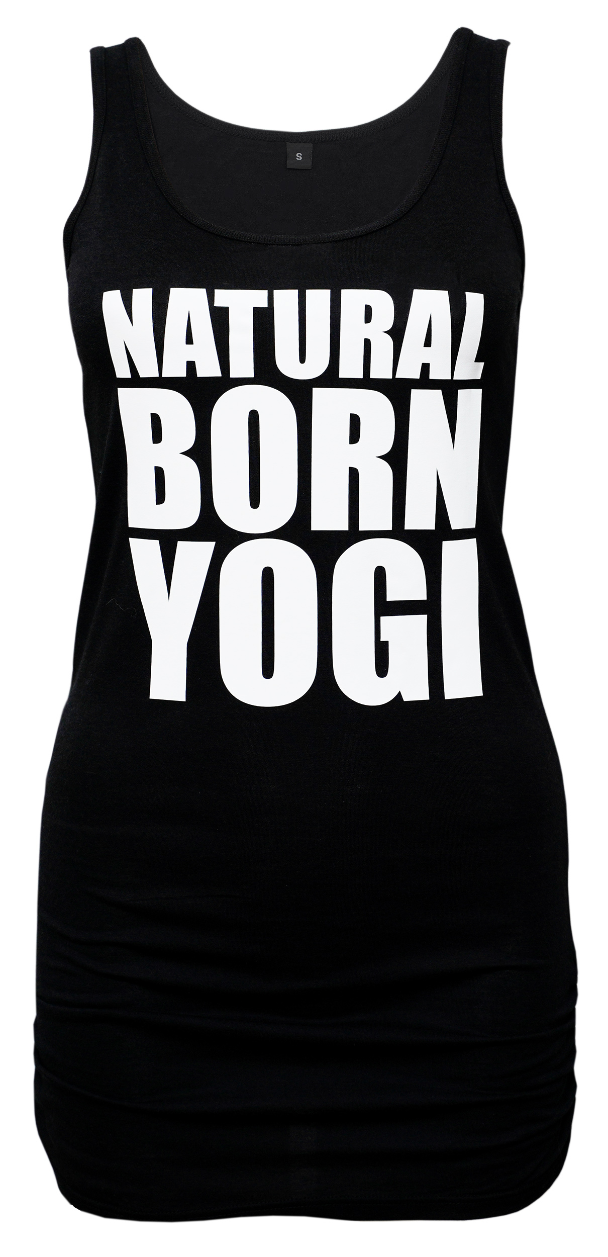 Tank-Shirt Natural Born Yogi - schwarz