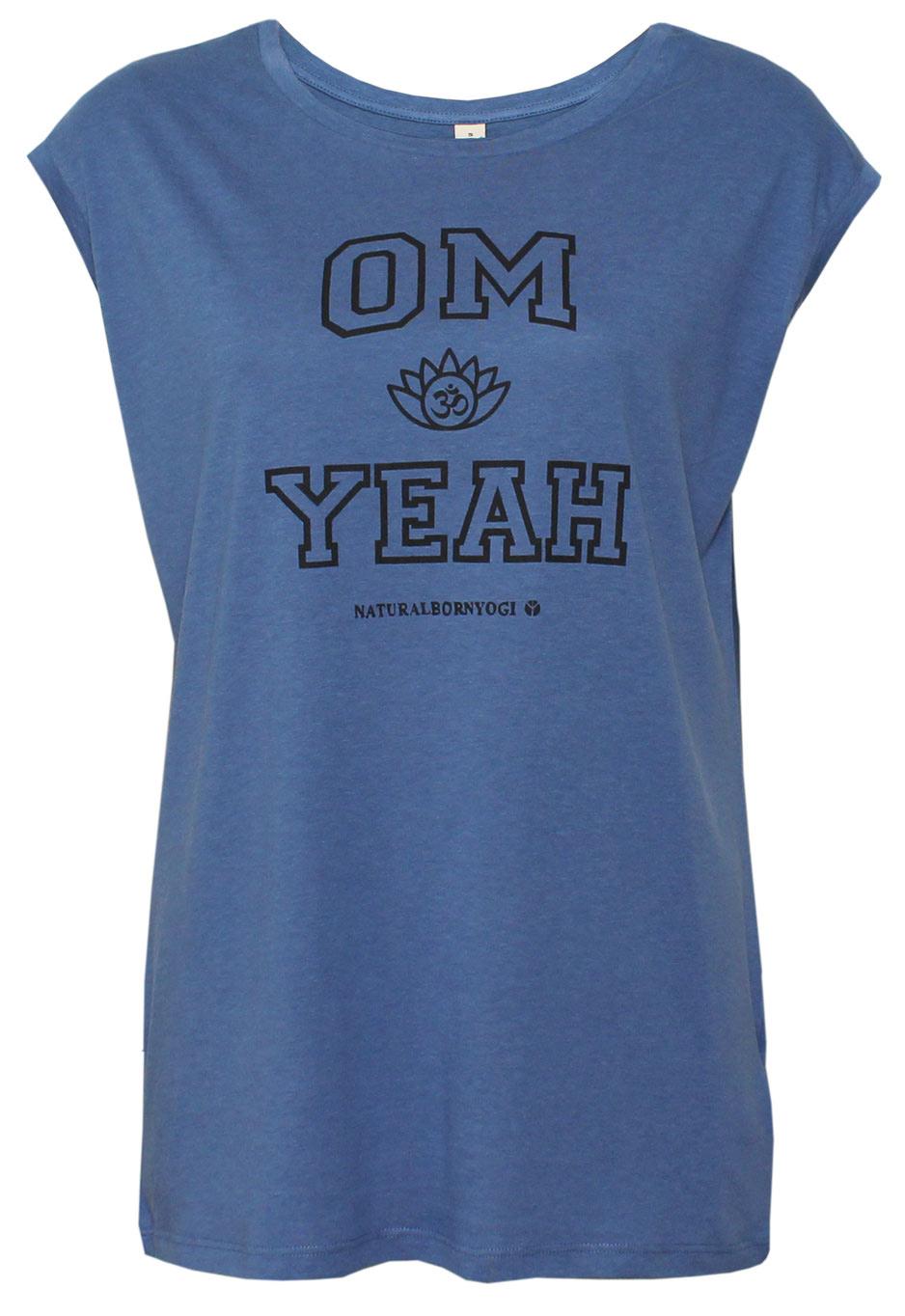 """Yoga-Top """"OM YEAH"""", blau"""