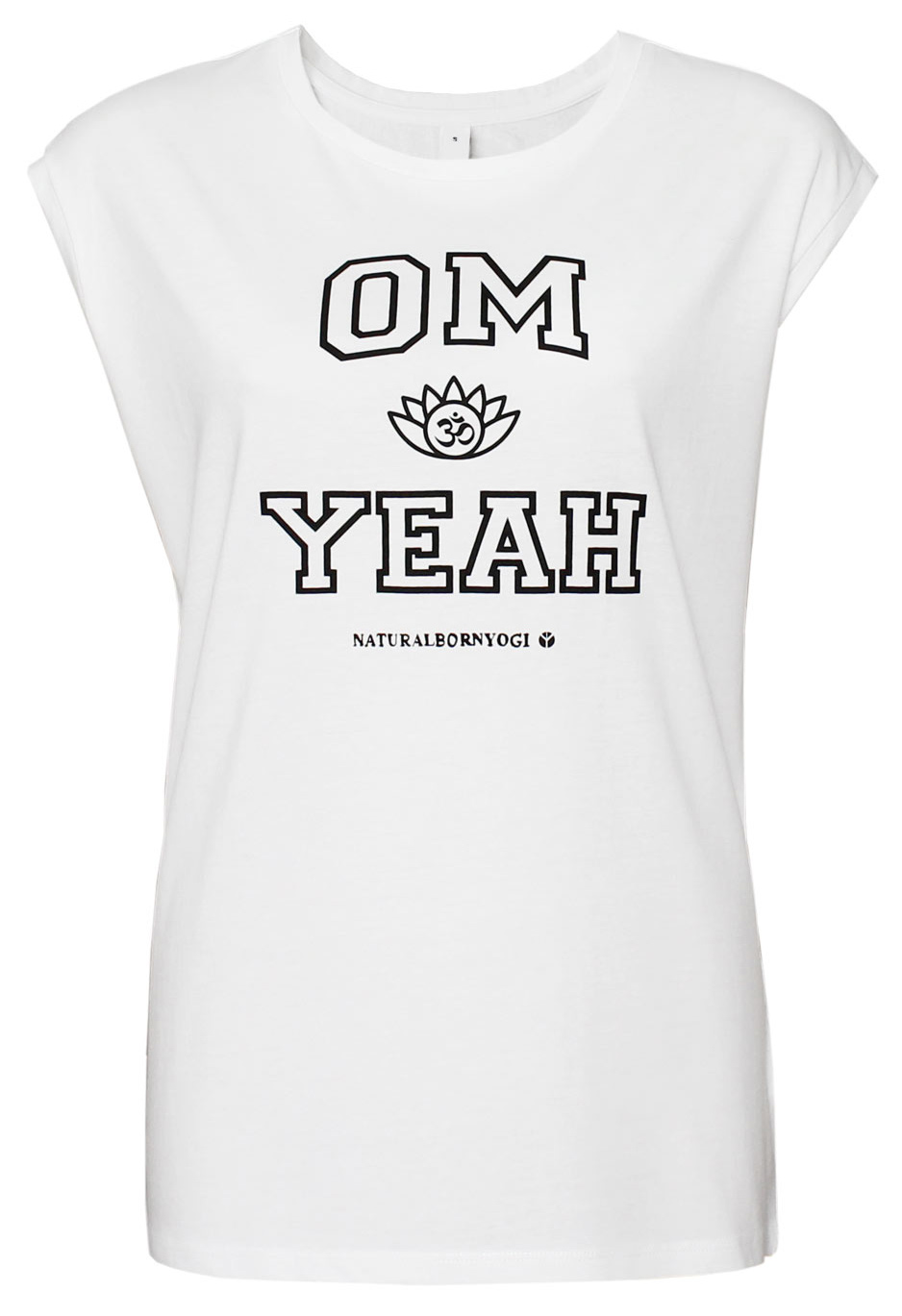 "Yoga-Top ""OM YEAH"", weiss"