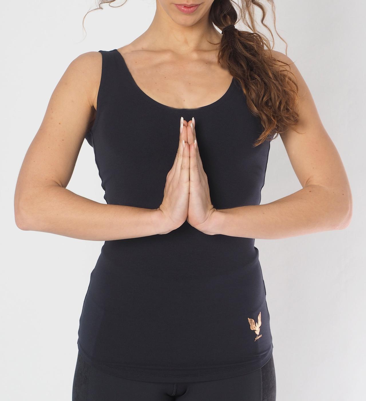 """Yoga-Top """"Sati"""" - anthracite"""