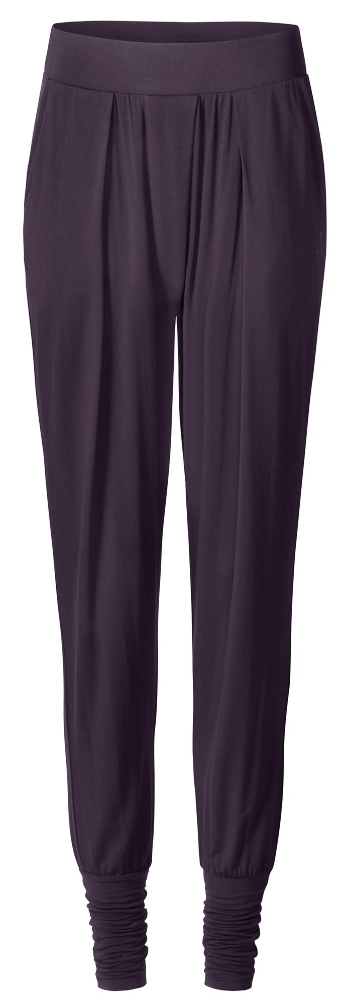 "Yoga-Wide-Pants ""Cuff"" - dark aubergine"