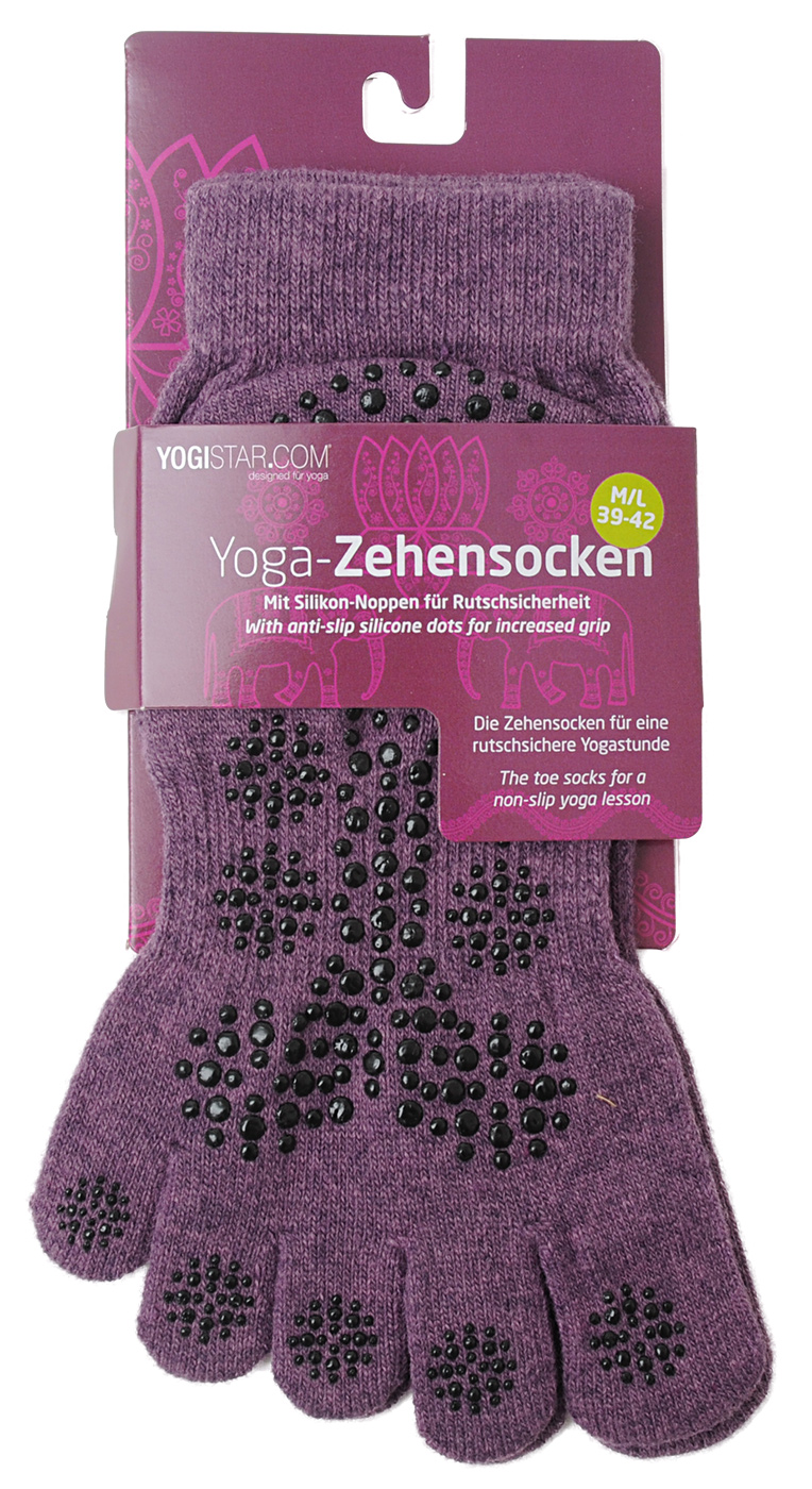 Yoga-Zehensocken - elderberry