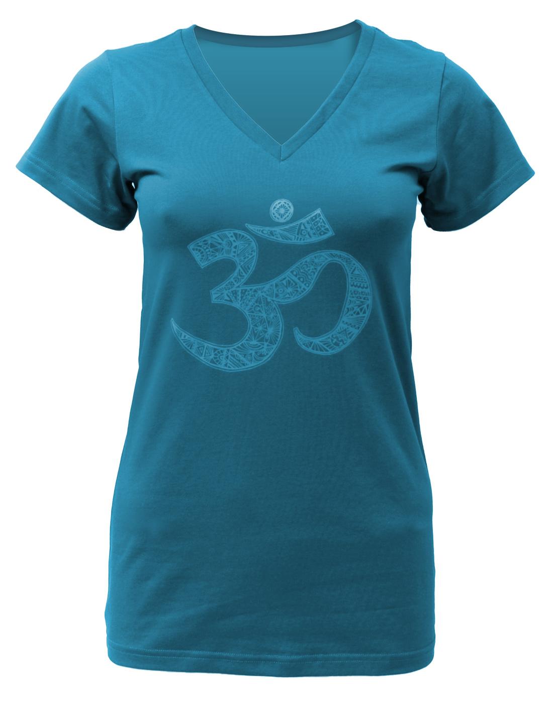 "Yoga-T-Shirt ""OM"" - petrol"