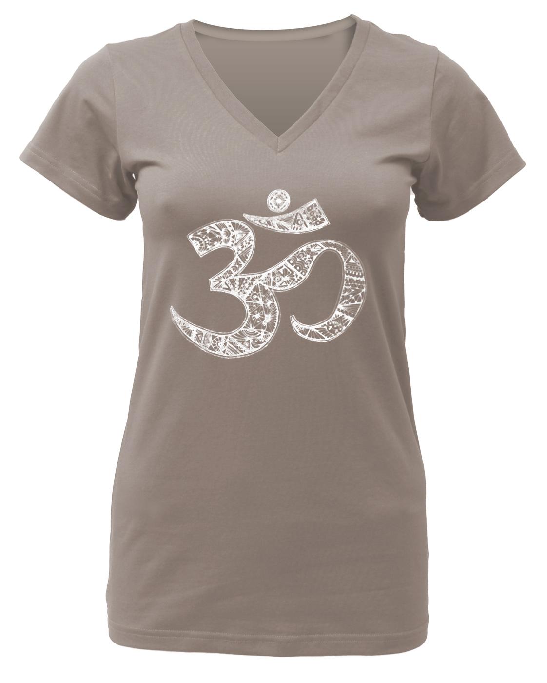 "Yoga-T-Shirt ""OM"" - taupe"