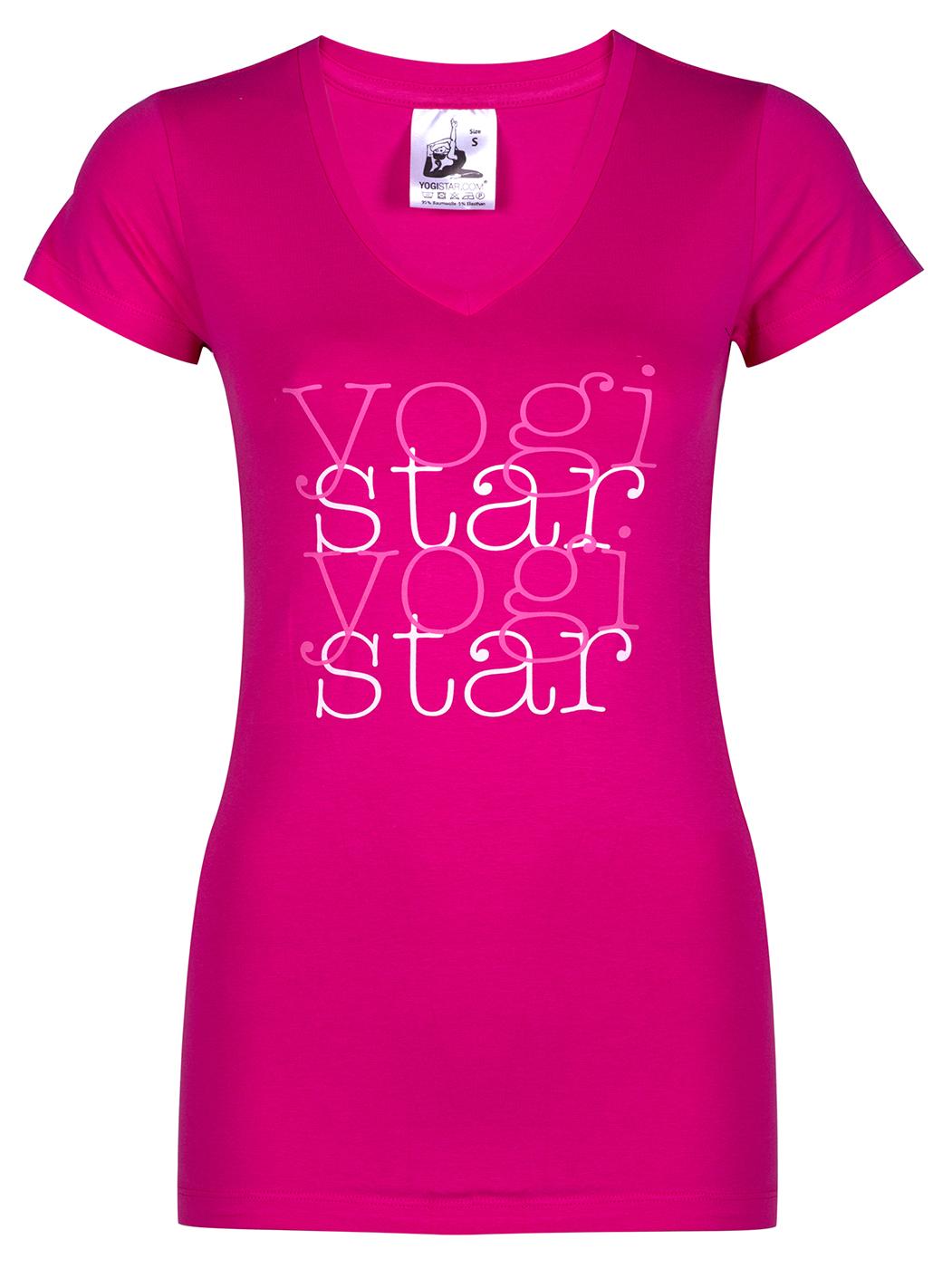 "Yoga-T-Shirt ""yogistar"" - pink"