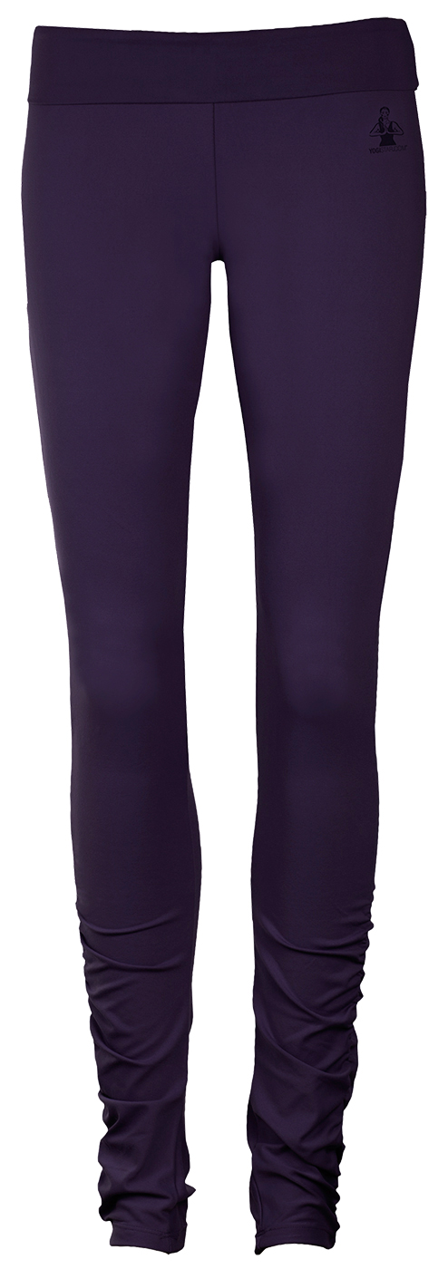 "Yoga-Leggings ""ruffled"" - dark aubergine"