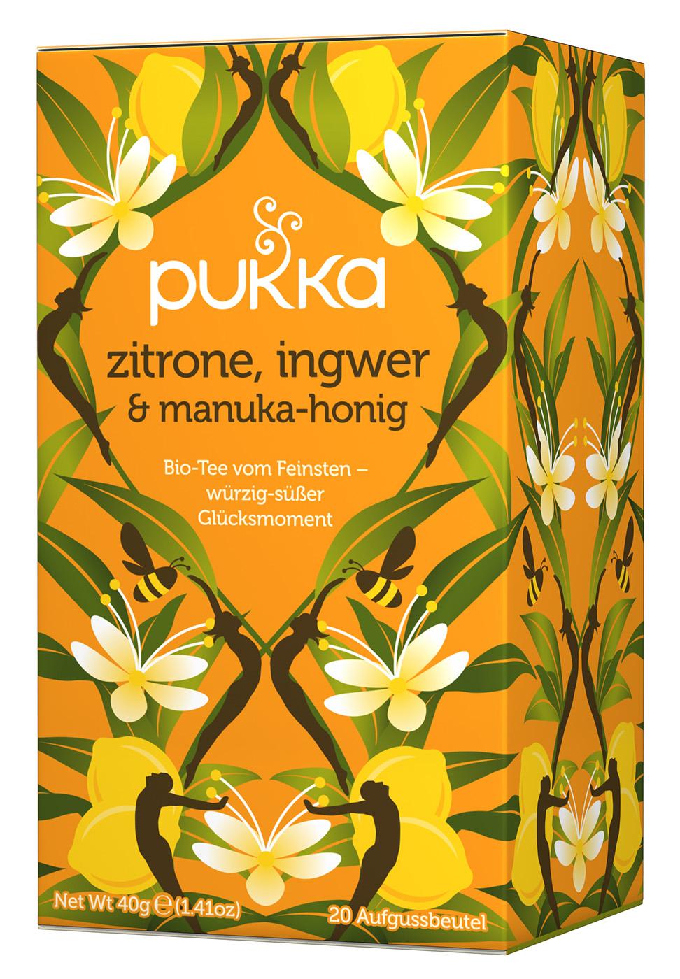 Bio Zitrone, Ingwer & Manuka-Honig Teemischung, 40 g