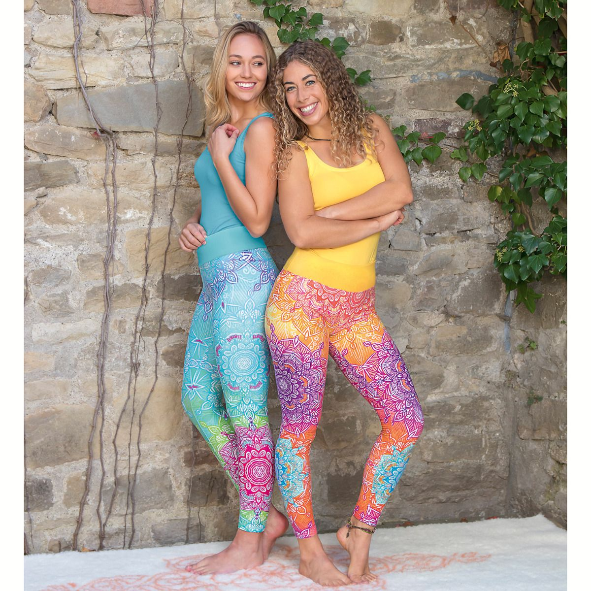 Yoga Leggings - karibik-blue