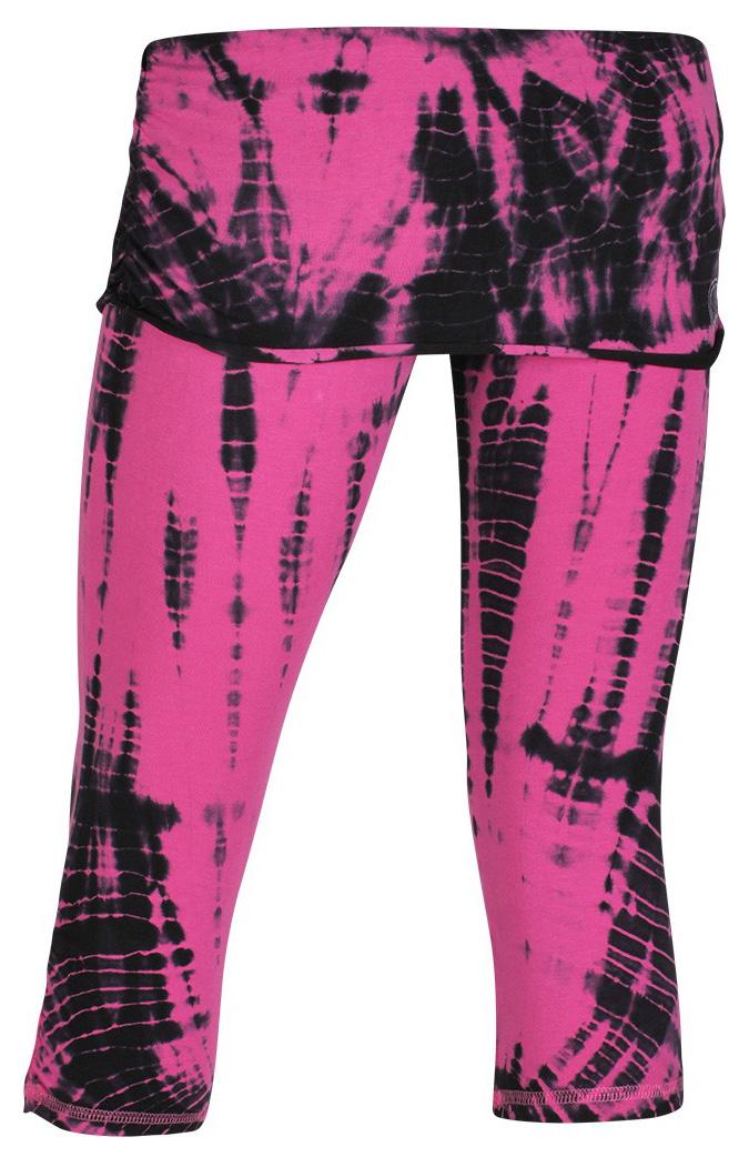 3/4 Batik-Pants, pink-black