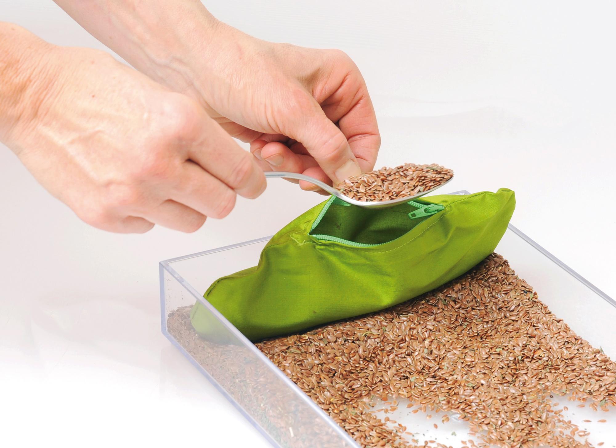 Eye pad –- Mint  + organic flaxseed