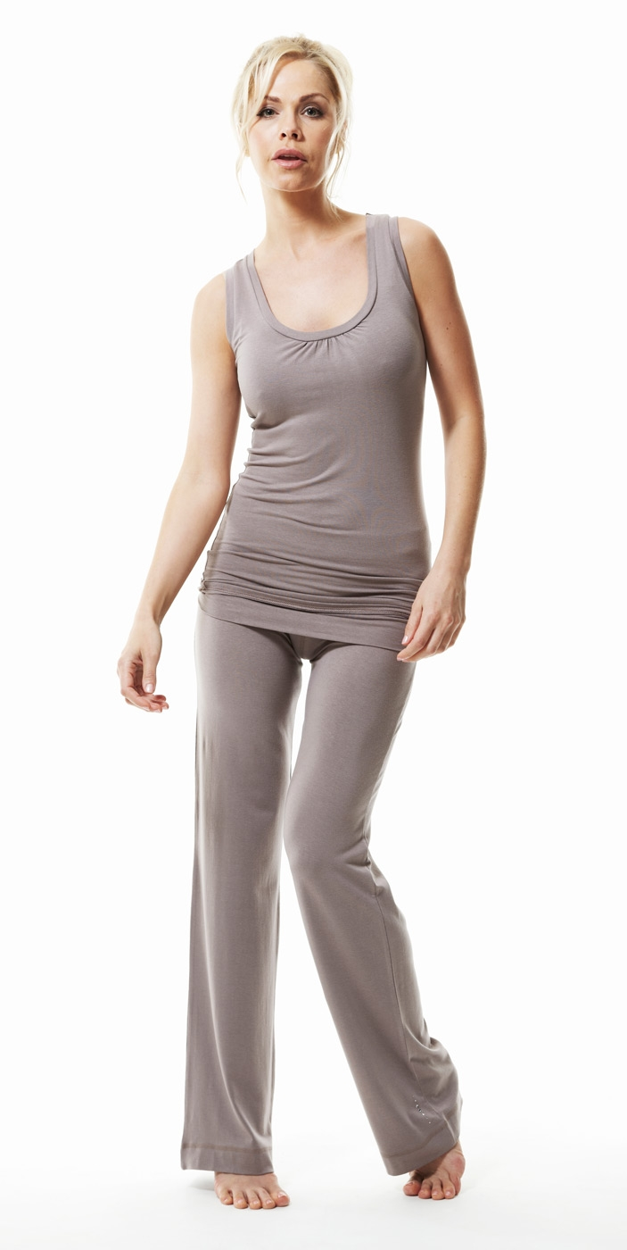 "Yogi-Top ""Bamboo"" sleeveless, taupe - Yogistar by Asquith"