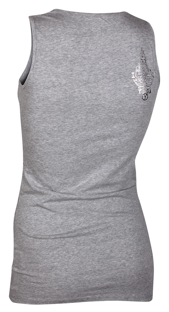 Basic Tank-Top, grey-melange