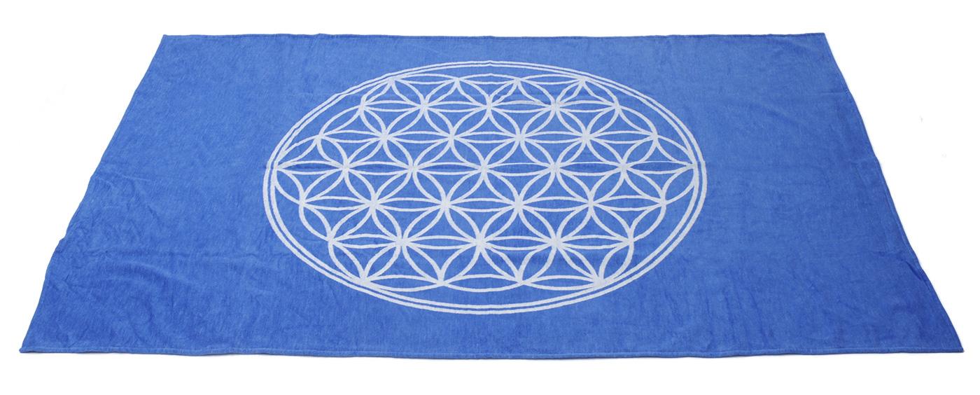 Cotton Blanket, blue - Flower of Life