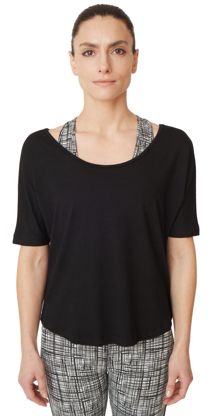 "T-Shirt ""criss cross"" - jet black"