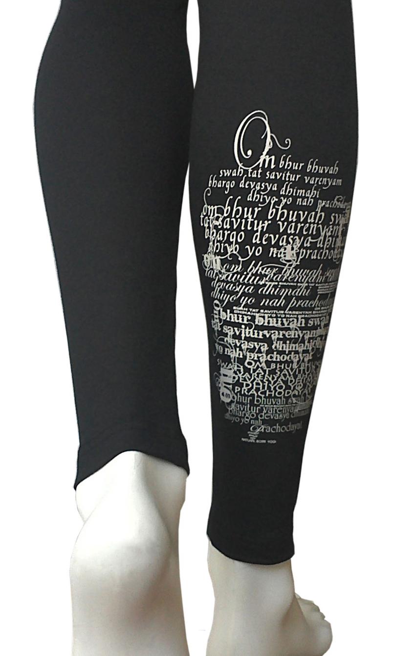 "Yoga-Legging ""Magic Mantra"", schwarz"