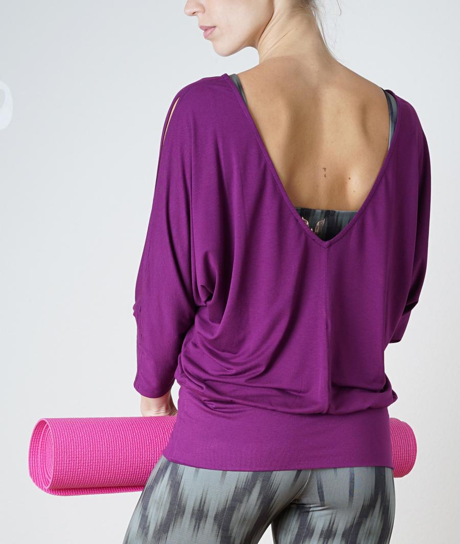 """Long-Shirt """"Saravati"""" - burgundy"""