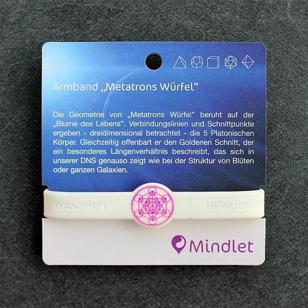 """Mindlet-Armband """"Metatrons Würfel"""""""