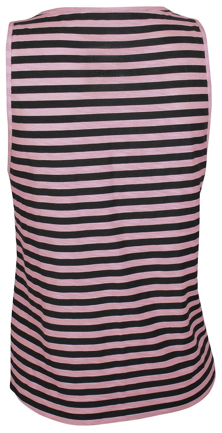 Yoga Muscle-Tank striped - black/rose