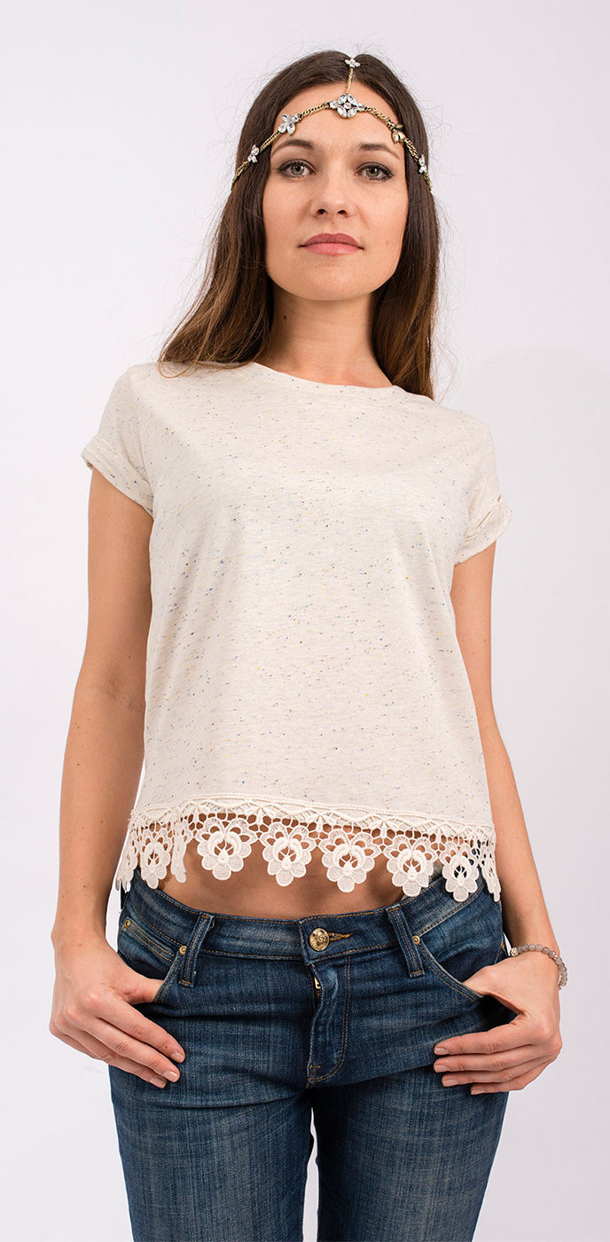 Shirt with Lace
