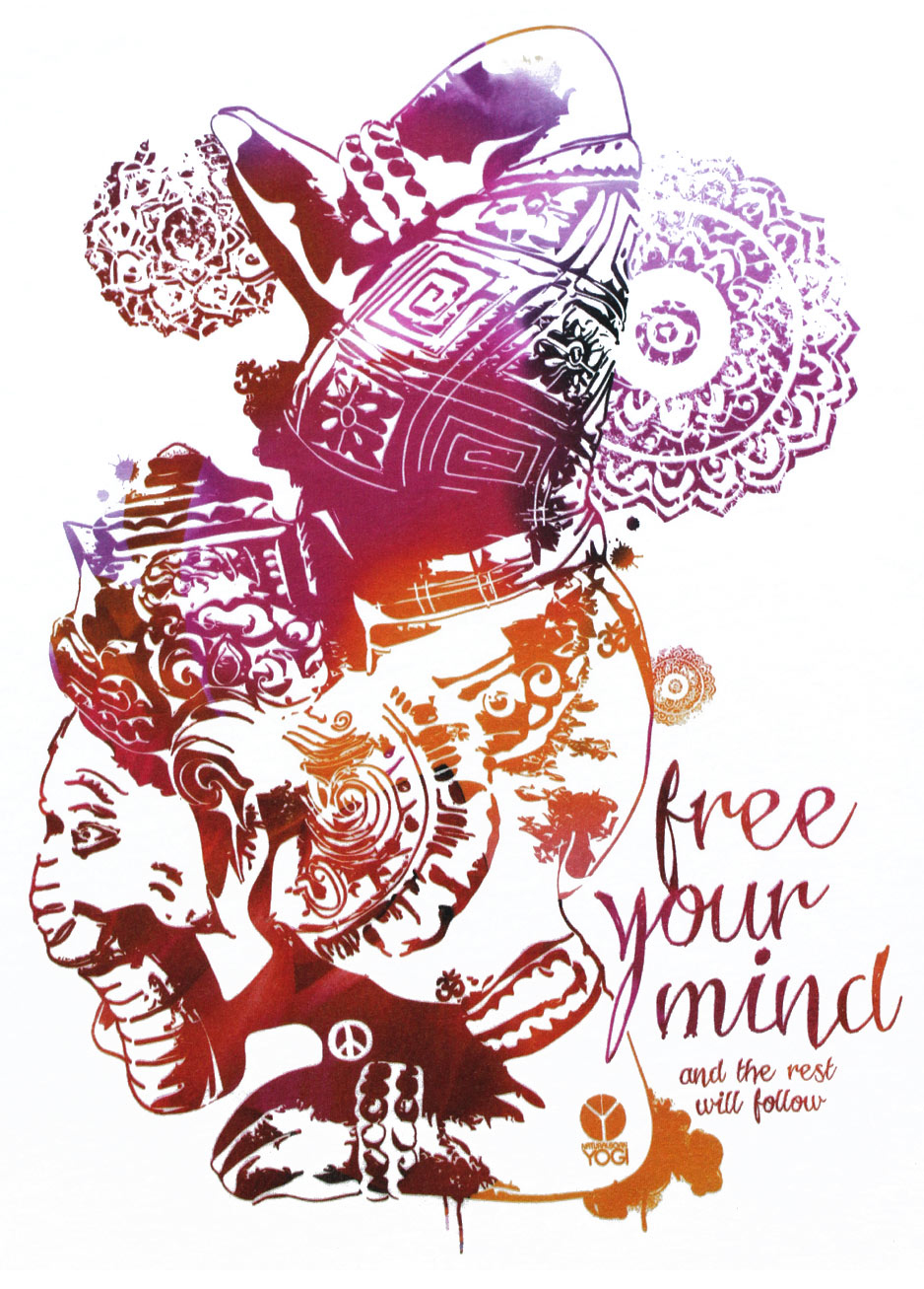 "T-Shirt ""Free your Mind"", weiß"