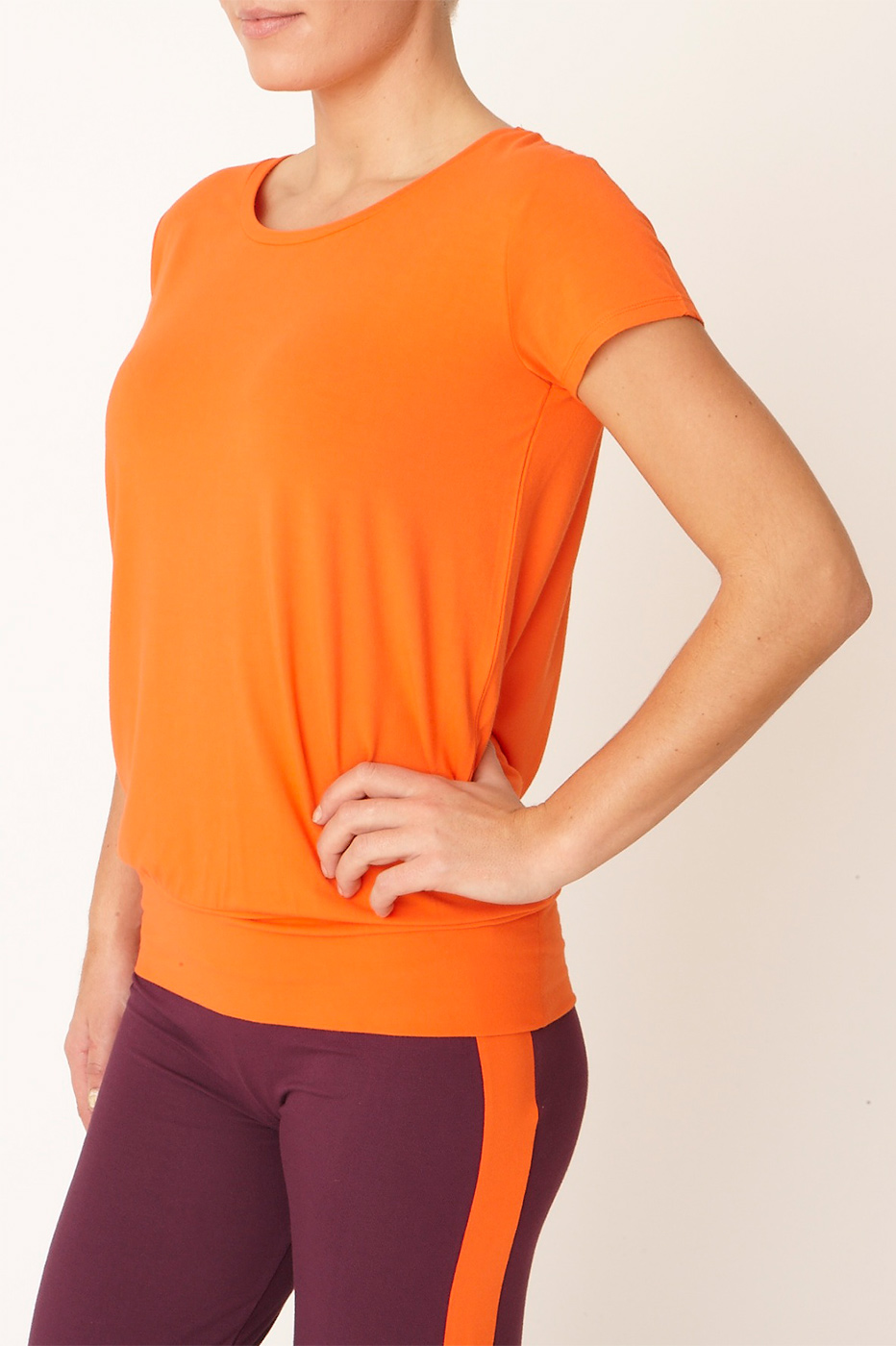 "Yoga-T-Shirt ""Smooth you"" - disco orange"