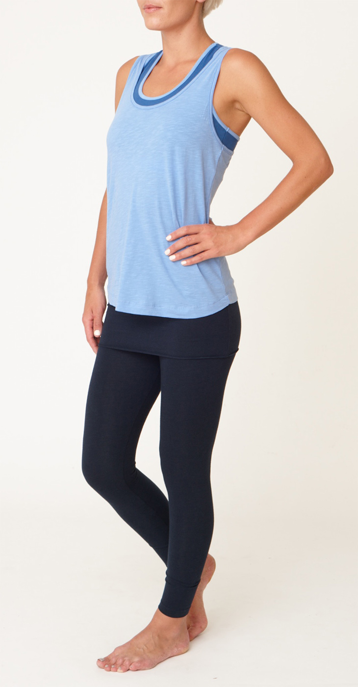 "Yoga-Tank-Top ""Warrior Racer"" - ice blue & denim"