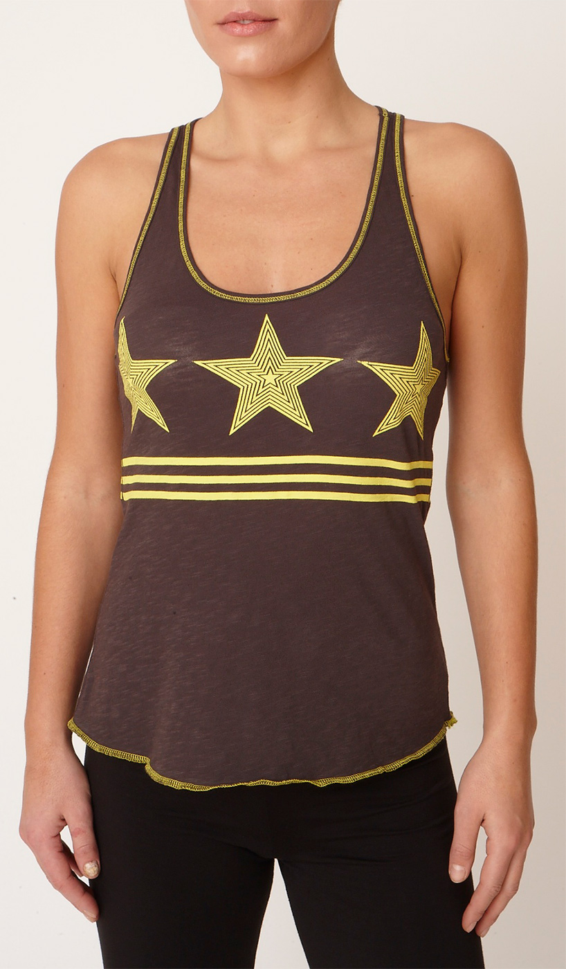 "Yoga-Tank-Top ""Warrior Racer"" - storm-grey"