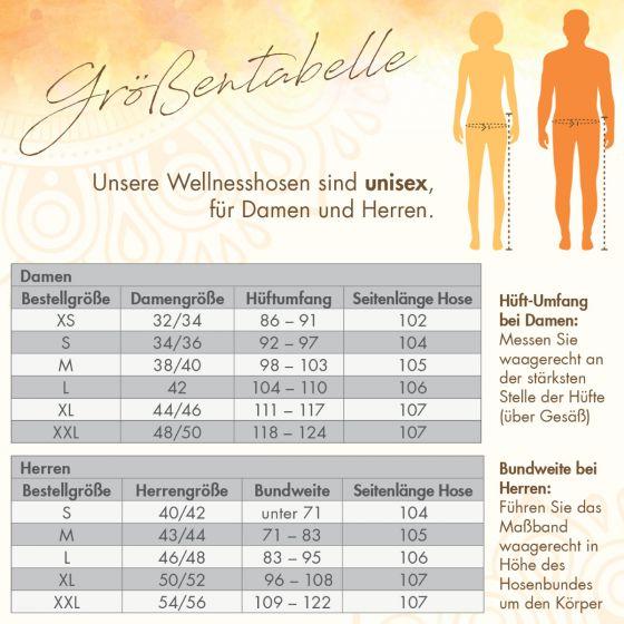 "Wellnesshose ""Blume des Lebens"" - weiß"