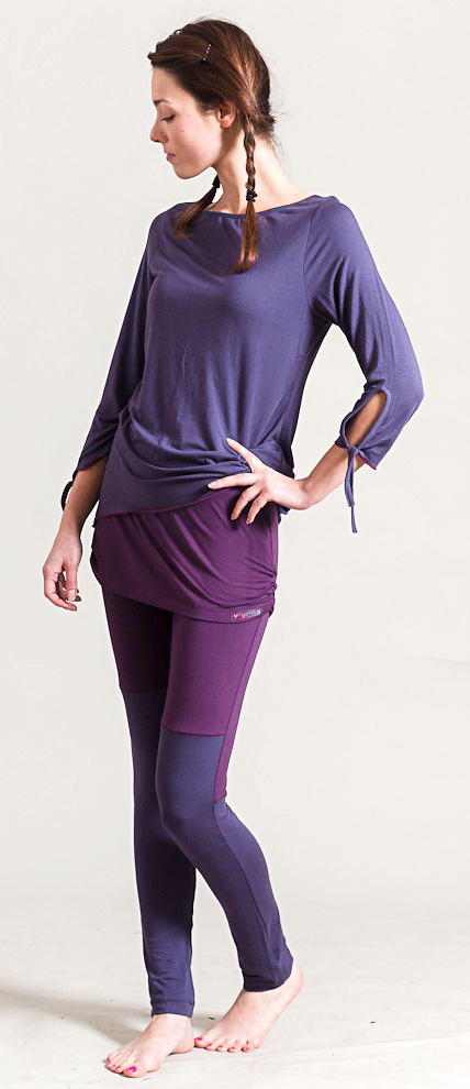 Yoga Skirt Legging, purple