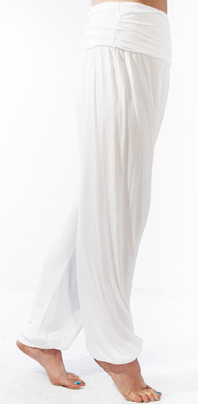 """Yogahose """"Flow"""" - white"""