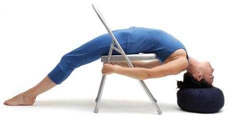 Yoga Stuhl, silbergrau