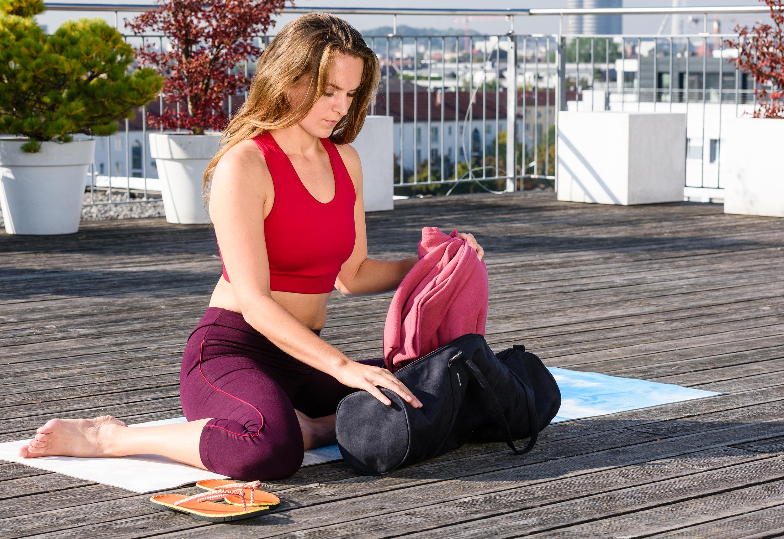 Yogatasche yogibag®  style - zip - velour - 69 cm