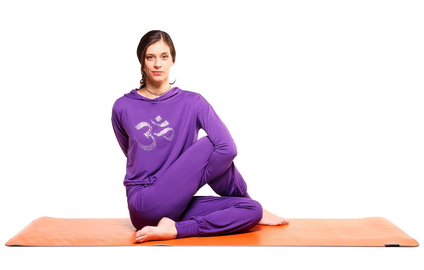 """Yogi-Hoodie """"Shiva"""" - purple"""