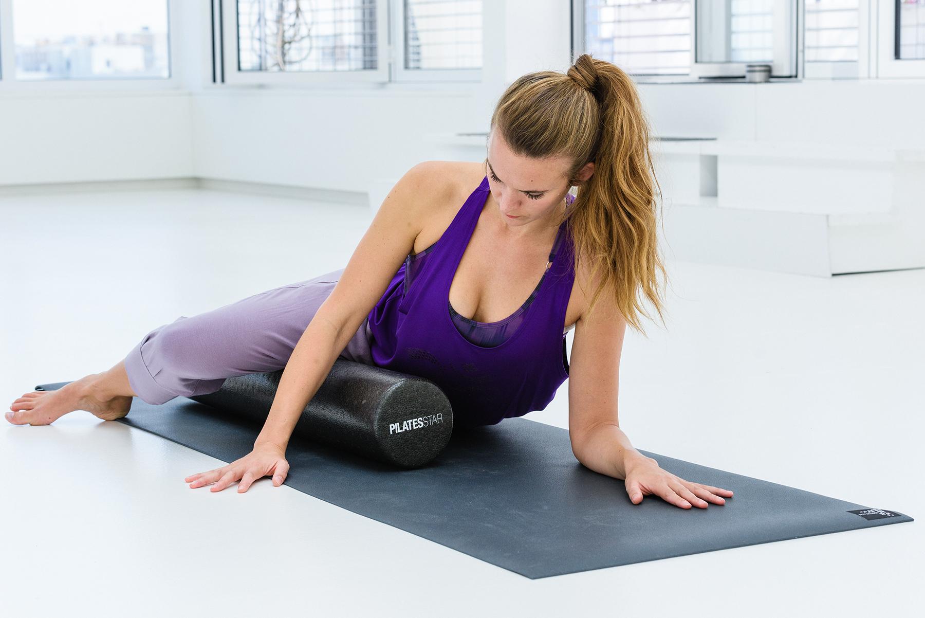 Faszienrolle / Pilatesrolle premium plus - black - 90cm