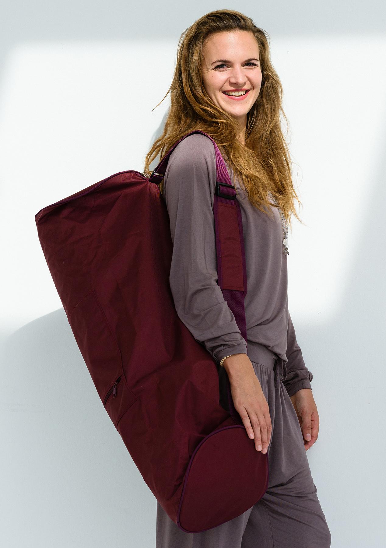 Yoga carrybag basic - zip - extra big - nylon - 80 cm