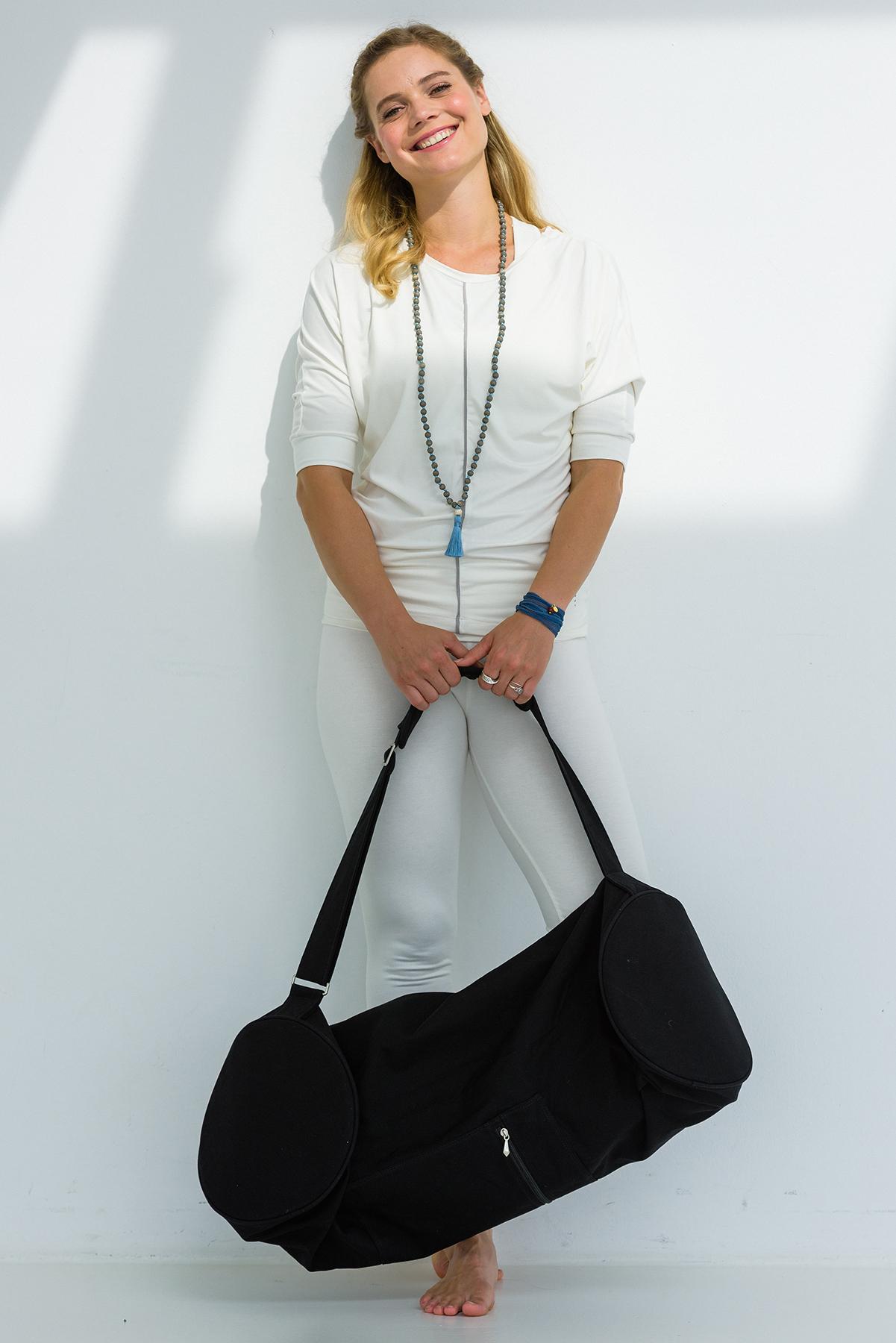 Yoga carrybag basic - zip - extra big - cotton - 80 cm